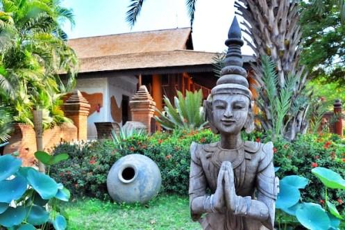 Beautiful Garden at the Tharabar Gate Hotel