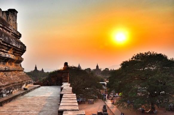 Crowded Pagoda in Bagan