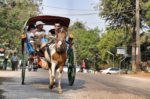Horse Carts in New Bagan