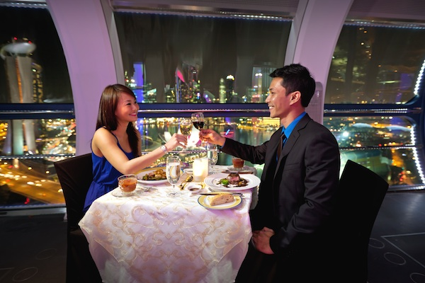 Sky Dining in Singapore Flyer