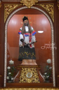 Statue of San Nepomuceno inside the church