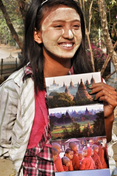 Burmese Kid Selling Postcards