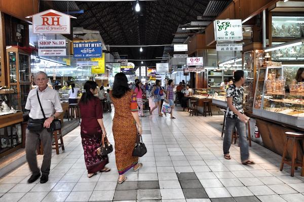 Inside Bogyoke Aung San Market