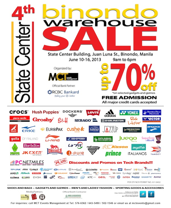 4bb0e1634 4th Binondo Warehouse Sale on June 10-16