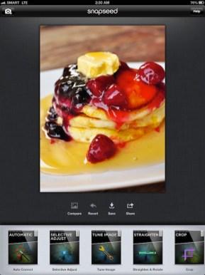Editing Photo using SnapSeed iPad App
