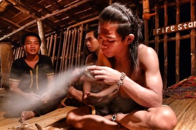 Making Fire with Bamboo