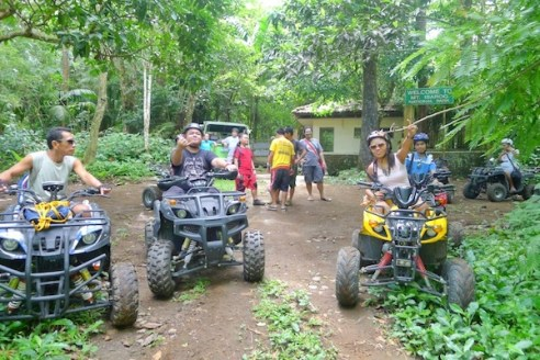 ATV Ride back to Panicuason Hotsprings