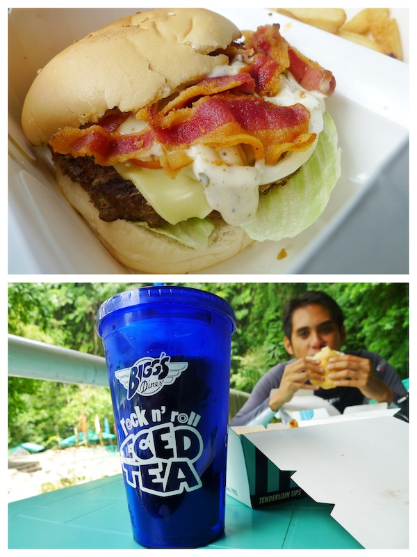 Bigg's Extreme Supreme Burger and Rock n Roll Iced Tea