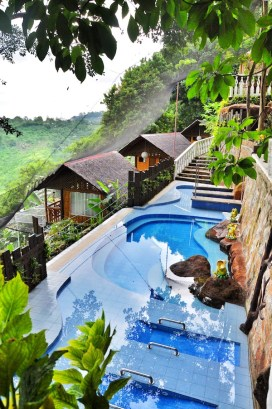 Infinity Pool and hydro massage area