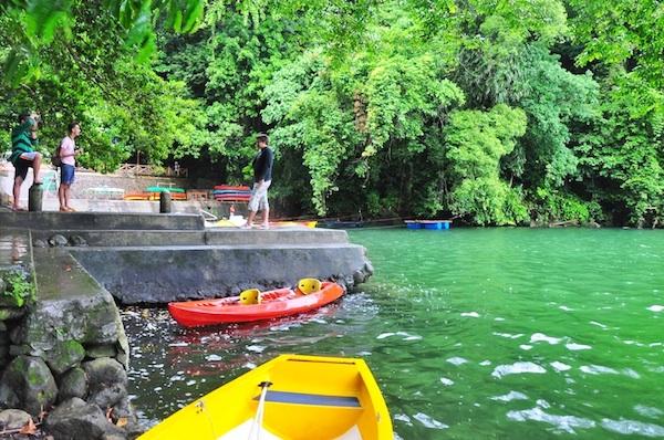 Kayaking in Bulusan Lake
