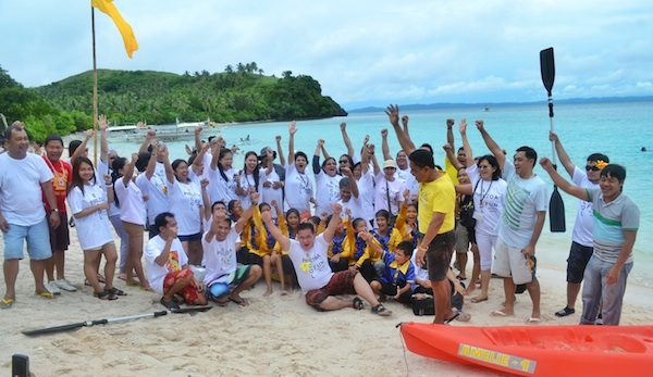 Philtoa Bicol Fam Tour Participants in Subic Beach