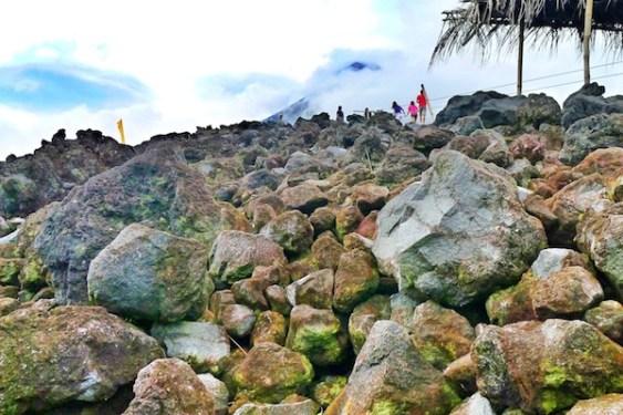 Mayon Volcano Lava Wall