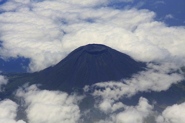 Mount Pico, the highest peak in all Portugal, on volcanic Pico Island