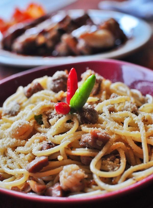 Pasta in Olive Oil with bits of Guinobatan Longanisa