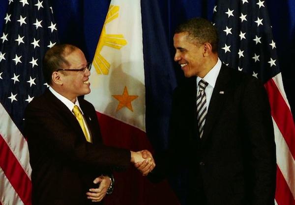 Philippine President Benigno Aquino and US President Barack Obama