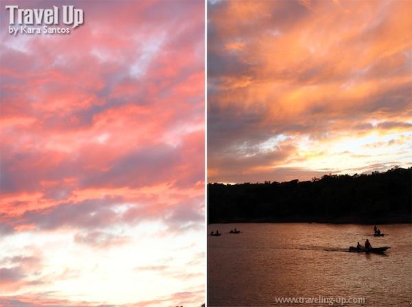 Sunset in Lake Pantabangan in Nueva Ecija