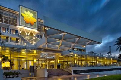 The Oriental Hotel Legazpi Facade at night (photo by Oriental Hotel)