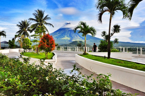 View of Mayon Volcano from the Infinity Pool