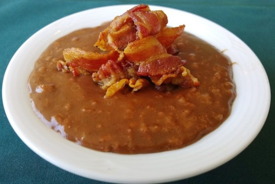Champorado with Bacon