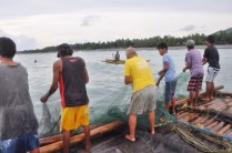 Fishing with local community