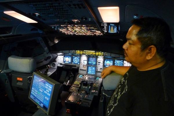 Inside A320 flight deck