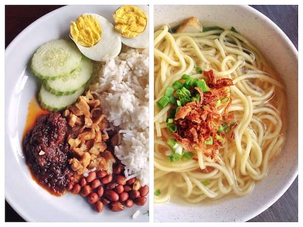 My Favorite Nasi Lemak and Chicken Noodle Soup