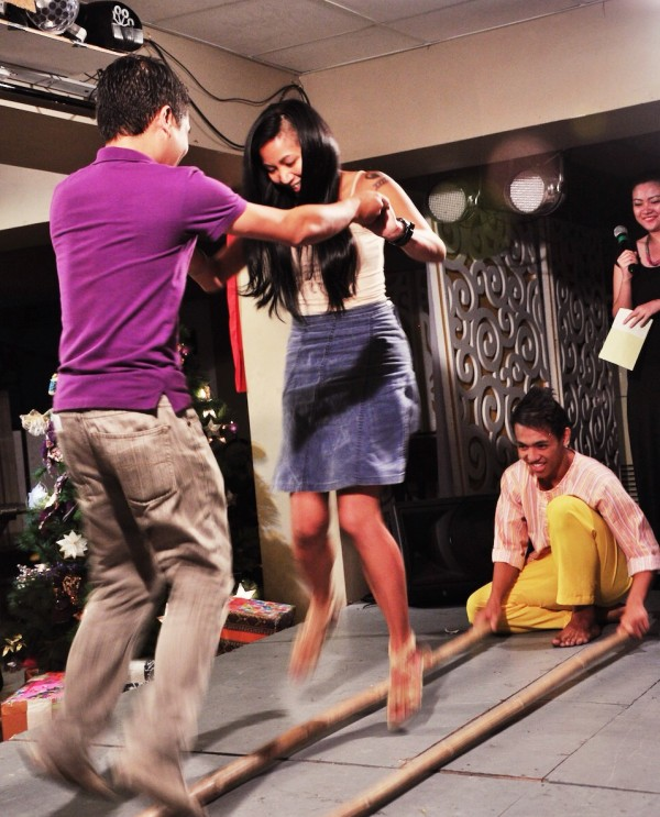 Gay Mitra Emami dancing Tinikling