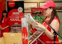 Joy Caneba - COO of AirAsia Zest during the Inaugural Flight Ceremoni in Miri Airport