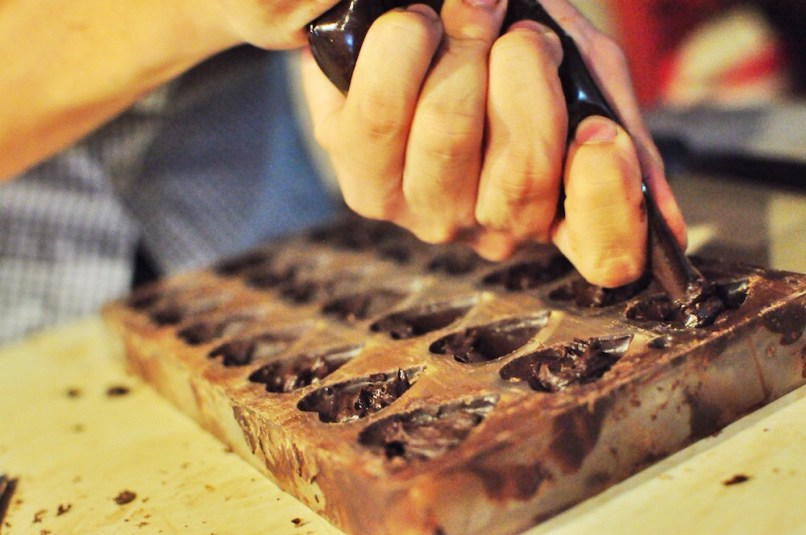 Molding Chocolate Candy