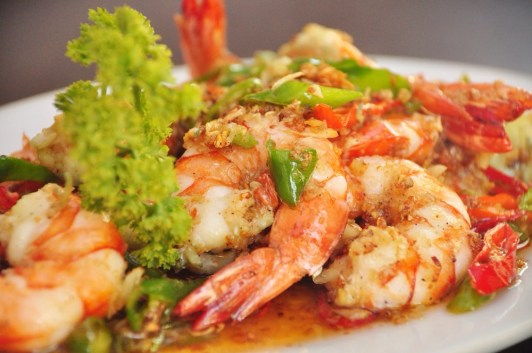 Spicy Gambas at Ole Tapas Bar and Restaurant