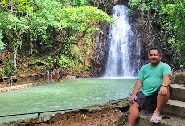 Melo Villareal in Taktak Falls