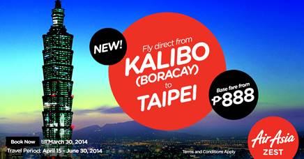 AirAsia Boracay to Taipei Flights