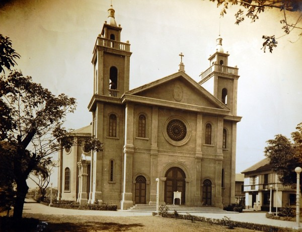 An Old photo of St. Vincent de Paul Church in San Marcelino St