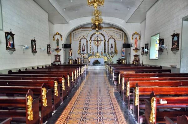 Inside San Luis Obispo de Tolosa Church