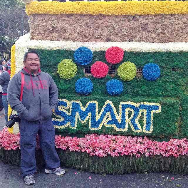 Me beside the SMART Float