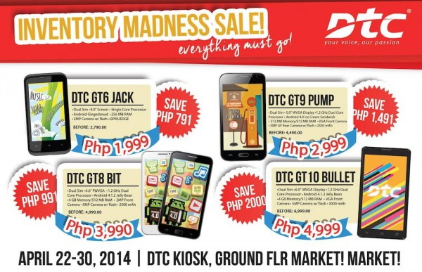 DTC Summer Inventory Sale