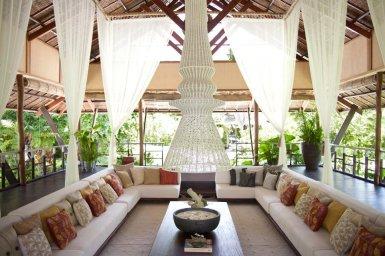 Dedon Island Resort reception lounge