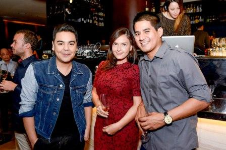 JM Rodriguez, Claudinne Trillo and Nino Barbers