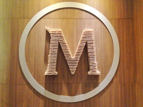 Magnum Manila Cafe Logo made from Magnum Wooden Sticks
