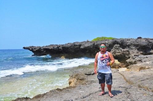 Melo Villareal in Patar Rock Beach