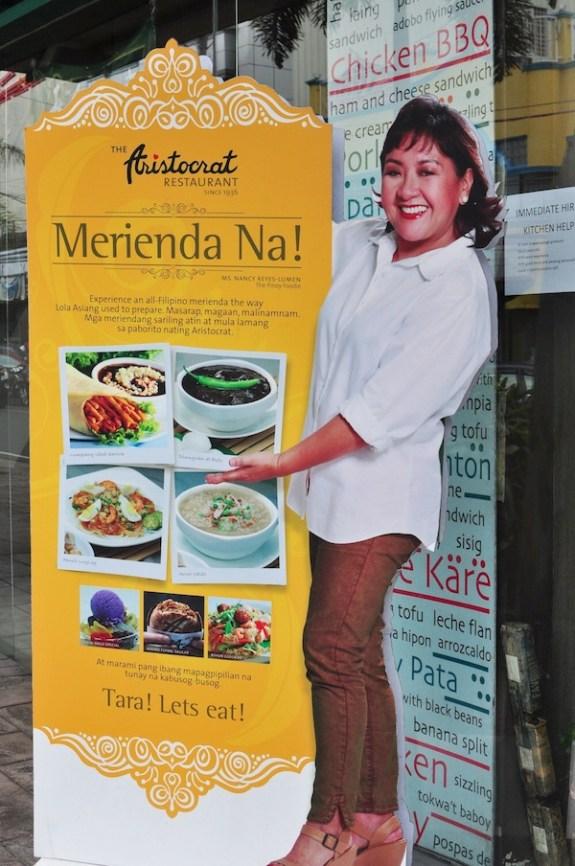 Nancy Reyes Lumen Standee at Aristocrat Restaurant in San Pablo City
