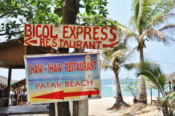 Places to eat in Patar White Beach