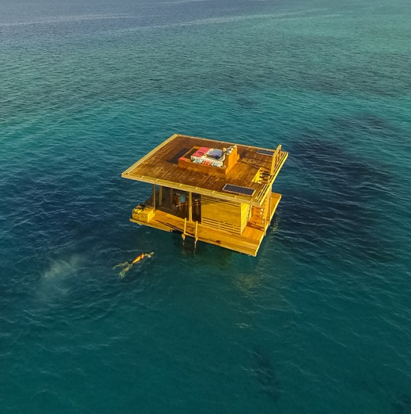Floating Hotel in Tanzania