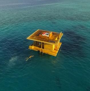 Floating Hotel in Tanzania