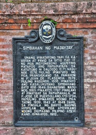 Church of Majayjay National Historical Institue Marker