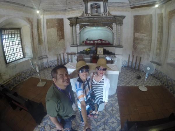 GoPro Shot inside Nagcarlan Underground Cemetery Chapel Renz Abasolo