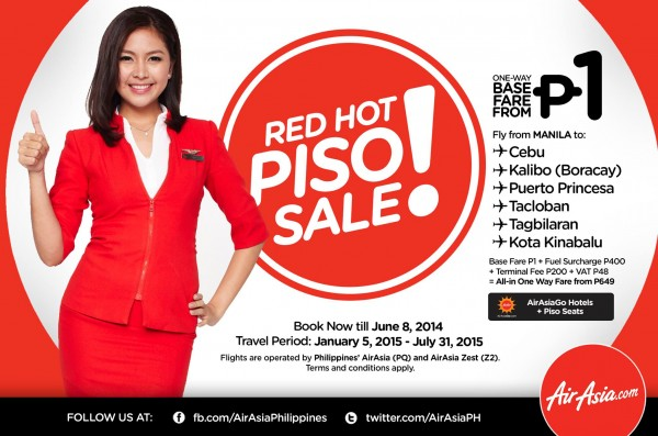 AirAsia Red Hot Piso Sale