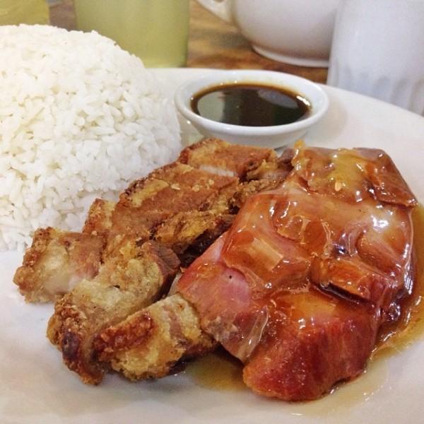 Lechon and Asado Pork Toppings at Ying Ying Tea House
