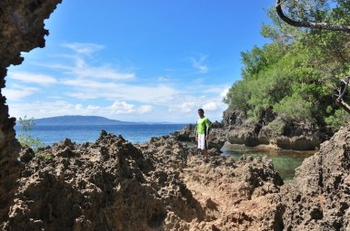 Outside the Underwater Cave