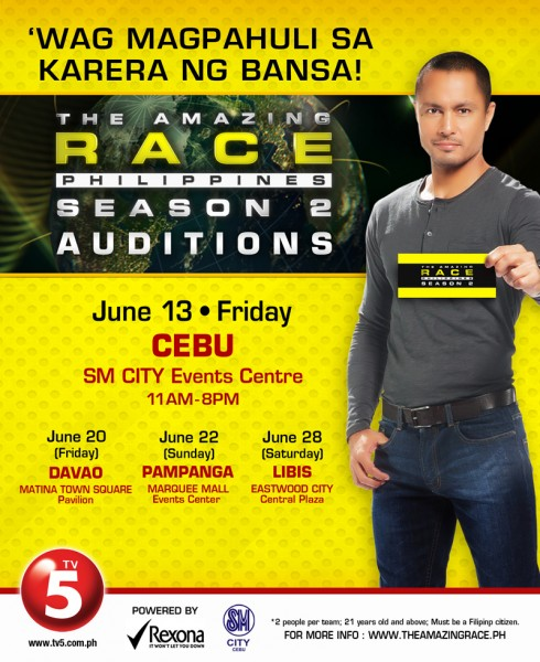 The Amazing Race Philippines Season 2 auditions